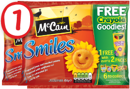 McCain Smiles Launches FREE Crayola Goodies Giveaway