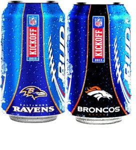 BUD LIGHT NFL SHIELD CANS