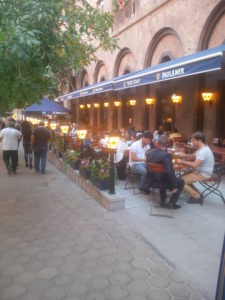 2. A Paulaner restaurant with a beer garden in Armenia