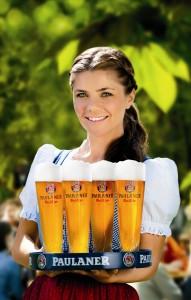 3. Waitress in a Paulaner beer garden