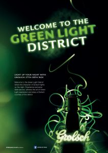 3026-1 GRO Green Light District POS A2 Poster Generic
