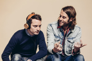 Elijah Wood and Zach Cowie who designed the Bushmills x Grado Labs headphones