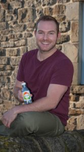 North East Entrepreneur Richard Baister with one of the first bottles of Brainwave