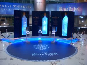 The JOHNNIE WALKER BLUE LABEL Gallery in Concourse D of Miami International Airport
