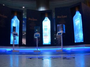 The JOHNNIE WALKER BLUE LABEL Gallery lights up Miami International Airport