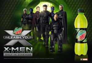 PEPSICO MOUNTAIN DEW AND X-MEN POSTER