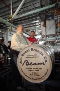 Beam Inc Jim Beam 13 Millionth Barrel