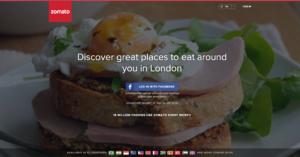 Zomato UK - Web