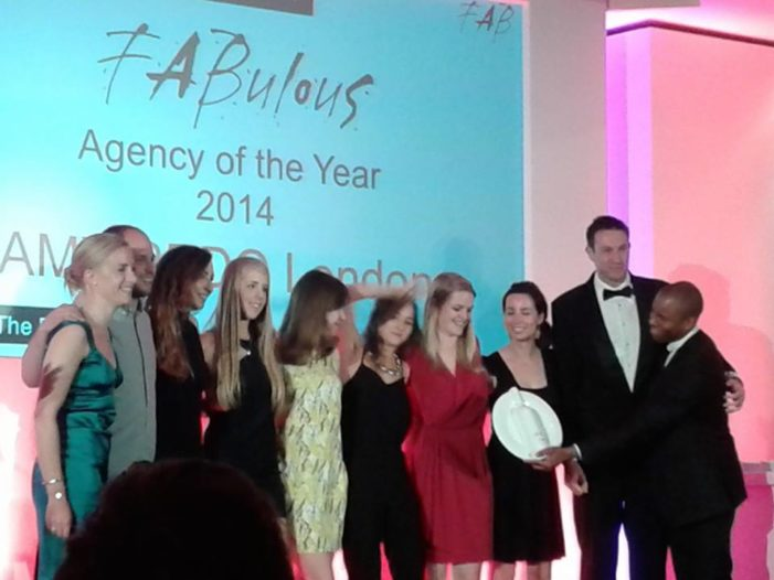AMV BBDO Wins FAB Agency of The Year 2014