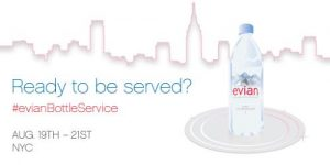 evian Bottle Service Banner