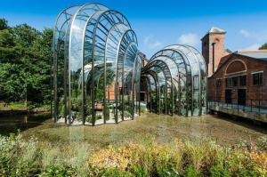 The botanical glasshouses designed by Thomas Heatherwick and Heatherwick Studios taking centre stage at Laverstoke Mill Bombay Sapphire Distillery
