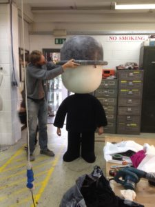 Artem SFX fit Fred the Homepride man with his iconic bowler hat