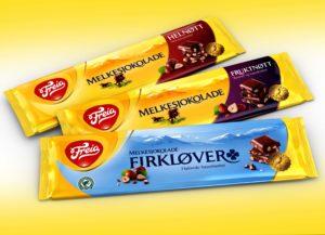 Freia chocolate bars