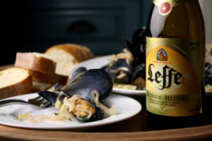 Leffe-Blonde-Beer-Mussels-with-Fennel-and-Shallots-Leffe-Blonde-Beer