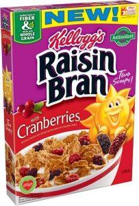 Kellogg Company Raisin Bran Cranberries