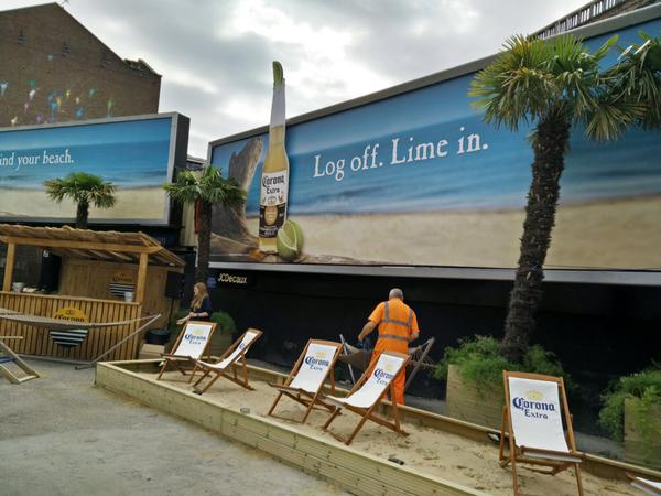 Corona Launches OOH Campaign to Bring the Beach to UK Cities