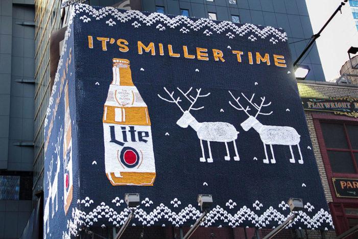 Original Miller Lite Bottle Gets Holiday Treatment
