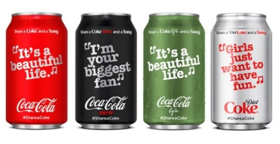 Coca-Cola's Summer Campaign to Feature Lyrics on Packaging