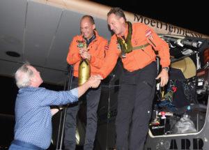 Moet Hennessy official partner of Solar Impulse - Landing
