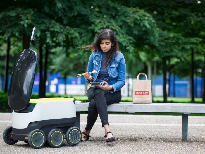Just Eat to Pioneer Food Delivery by Self-Driving Delivery Robots