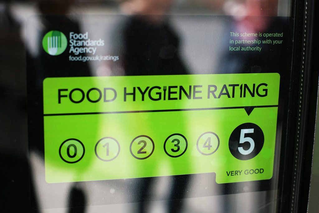 Businesses are not required to display their food hygiene scores in England and Scotland. Photograph: Martin Godwin for the Guardian