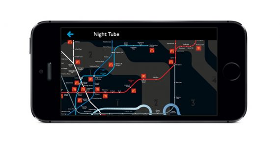 McDonald's and OMD UK Team with London Tube Map to Curb Commuter Cravings