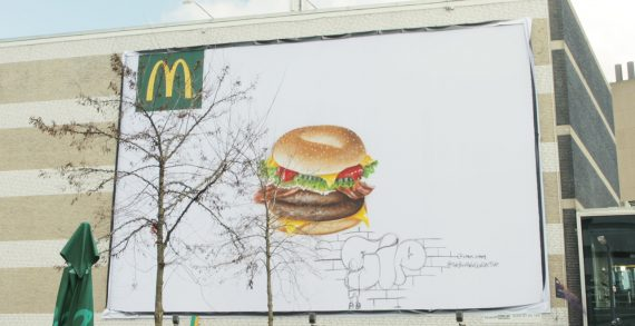 McDonald's Got NYC's Bushwick Collective to Paint Bagel Burgers on Billboards All Over the Netherlands