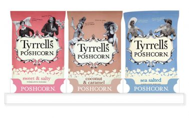 SAICA Pack Puts the 'Posh' into Tyrrells Poshcorn Packaging