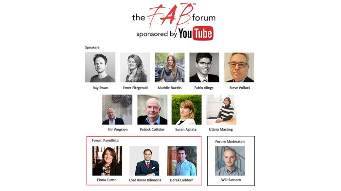 The FAB Awards Announce Speakers & Panelists for the YouTube Supported FAB Forum