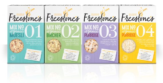 Slice Design Brands Freestone's Organic Cereals