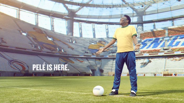 Piranha Bar and Irish International Bring Stadium to Life for Football Legend Pelé and Snickers
