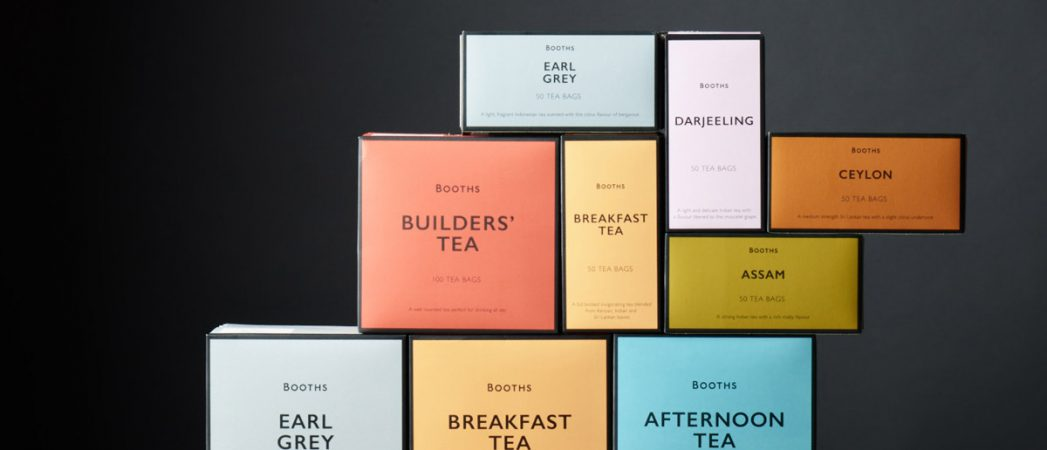 Smith&+Village Rebrand Booths Tea Range with Bold Colour Palette