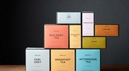 Smith&+Village Rebrand Booths Tea Range with Bold Colour Palette
