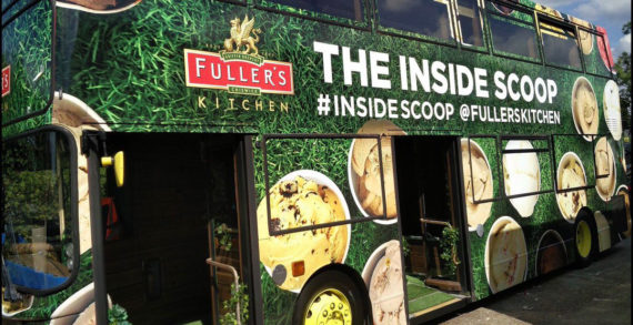 Double Decker Bus Launches Ice-Cream Tour for Fuller's Kitchen in the UK