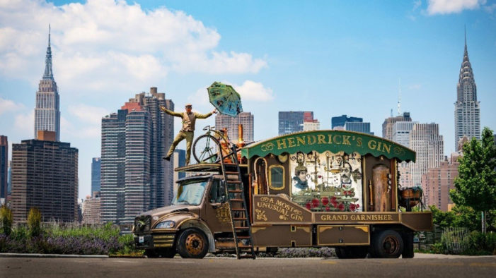 Hendrick's Gin Continues Cross-Country Quest in the US with a Giant, Traveling Cucumber Garnisher