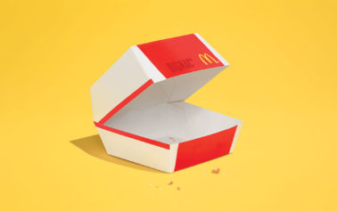 The Food Almost Completely Disappears in McDonald's Latest Minimalist Ads Aside From a Few Crumbs