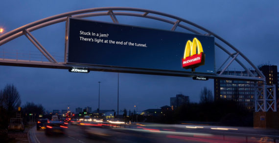 Leo Burnett's Digital Billboards For McDonald's Change Depending On How Bad The Traffic Is