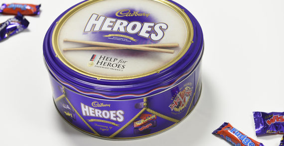 Design Bridge Creates Limited Edition Cadbury Heroes Tin to Mark 10th Anniversary of 'Help For Heroes'