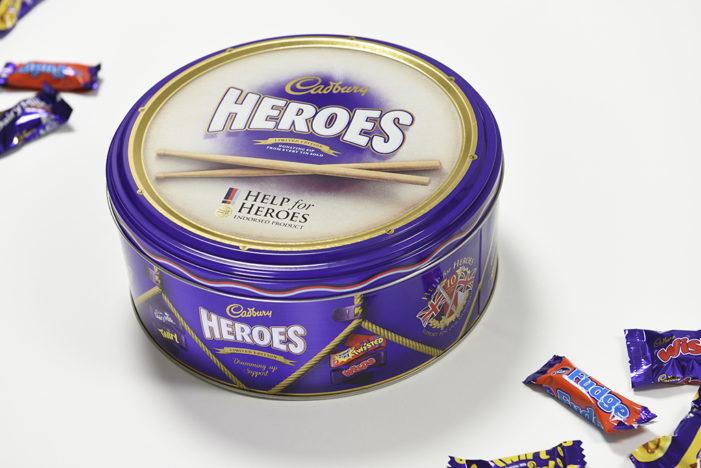 Design Bridge Creates Limited Edition Cadbury Heroes Tin to Mark 10th Anniversary of 'Help For Heroes'