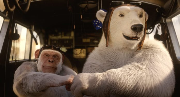 A Polar Bear and Chimp Catch Clouds to Put in Harbin Beer in Fantastical New Campaign