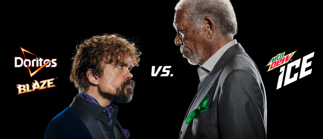 Doritos and Mountain Dew Join Forces for an Epic Super Bowl Ad Starring Morgan Freeman and Peter Dinklage