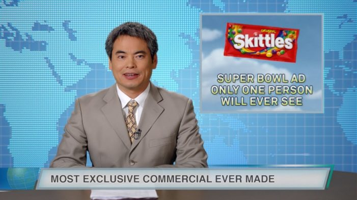 Skittles Makes 'Super Bowl' Ad to be Seen by Just One Fan