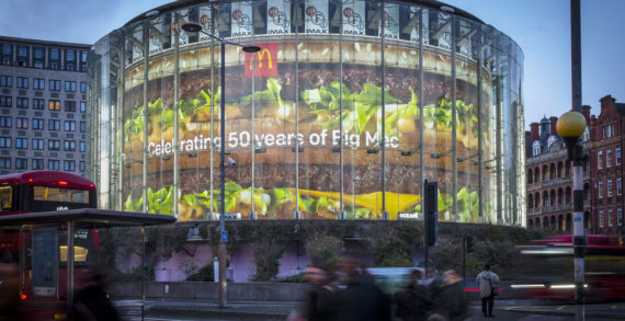 Ocean Outdoor Transforms London IMAX into a Big Mac for the Burger's 50th Anniversary