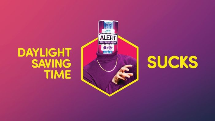 Wrigley's Alert Caffeine Gum Energises People in Time for Daylight Saving