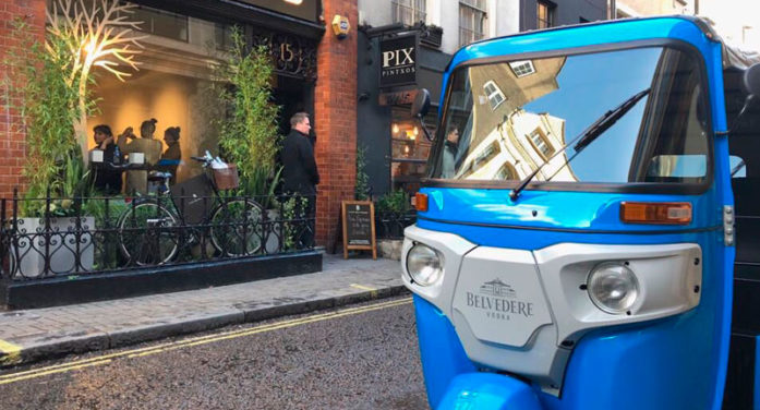 Café Belvedere Transport Guests in Tuk Tuks to Their Pop-Up Bar During London Fashion Week