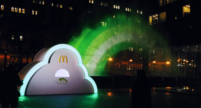McDonald's Made a Big Green Rainbow Appear in Chicago Ahead of St. Patrick's Day
