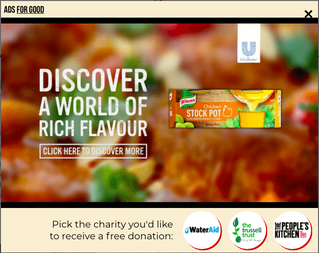 Unilever Donates to Charity for Each Knorr Video Ad View