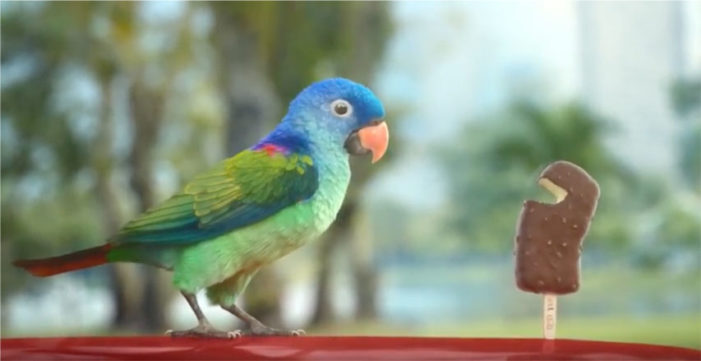 DDB Group Singapore Takes Wall's Feast in a New Direction With the Help of a Parakeet