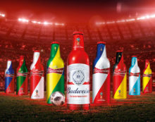 Jones Knowles Ritchie Shanghai Lights up Budweiser Collectible Bottles for the World Cup