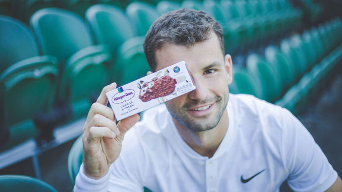 """Häagen-Dazs and Grigor Dimitrov Team for """"Let's Play"""" Flavour-Battle Inspired Wimbledon Campaign"""